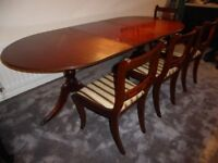 """Dining Room Table and Four Chairs Table is 40"""" wide, 64"""" long extending to 84"""""""