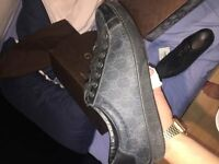 Mens Size 8/9 Black Gucci Brooklyn GG Low Trainer (Worn handful of times , condition 8/10)