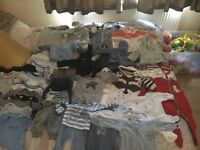 Baby boy newborn and 0-3 clothes bundle