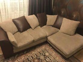 Brown Leader Handle L shape Sofa ( No pets No smoking house)