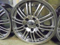 17inch single alessio chrome alloy wheel new bmw 5x120 fitment spare
