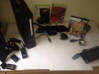 120GB Xbox 360 with Kinect and 3 Games!