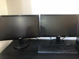 PC Monitors x 2