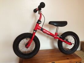Stomped Balance Bike 2-6yrs Bright Red