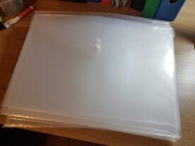 A3 Plastic Wallets / Folders