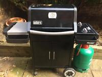 Immaculate Weber 210 barbecue BBQ grill used TWICE