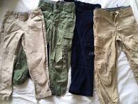 Boys trouser bundle age 4/5 - John Lewis/Gap/JoJo Maman