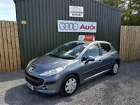 2009 GREY PEUGEOT 207 S 1.4 HDI 68, LOW MILEAGE, £30 PER YEAR TAX, 5 DOOR, SERVICED