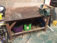 Welding bench table fabrication heavy duty 16mm top