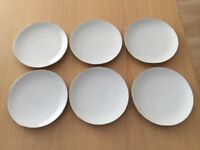 Thomas China Medallion Platinum Band 6 tea plates 17cm