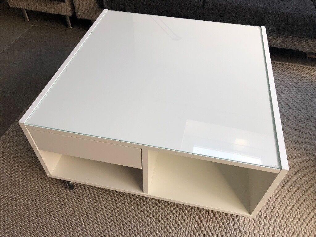 Brilliant White Ikea Coffee Table W Glass Top In Clapham London Gumtree Lamtechconsult Wood Chair Design Ideas Lamtechconsultcom