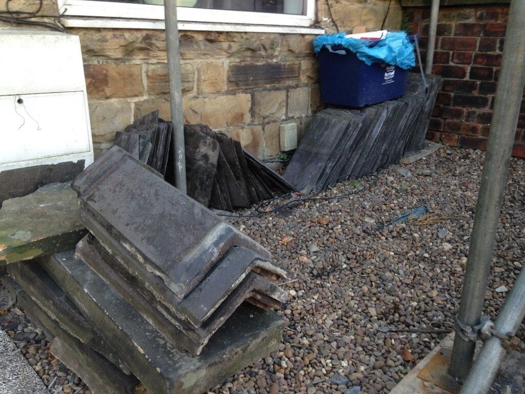 Welsh slates 18 by 9 inches and coping stones for sale