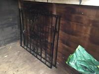Black cast iron gates