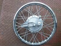 Honda XL 125 rear wheel (spoked) with brake drum assembly. Unused