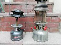 Coleman and anchor type fishing lamps