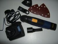 NEW. Cordless, Macallister Multi Tool and Sander.