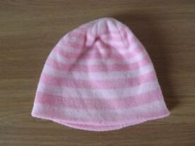 Girls Pink Hat Age 4-8