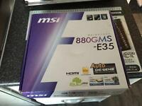 MSI 880GMS E35 socket AM3 motherboard brand new boxed not needed