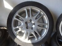 """17"""" TRANSIT CONNECT ALLOYS just been refurbd 4 NEW TYRES £185 ono open sat 9am-5pm"""