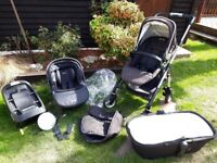 Silvercross wayfarer pushchair travel system