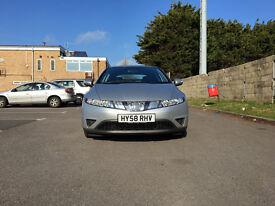 Honda Civic 1.8 i-VTEC SE Hatchback 5dr£4,495 p/x welcome 2008 (58 reg), Hatchback