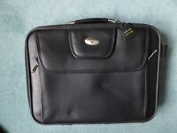 Antler leather laptop case