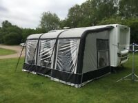 Bradcot Aspire Air 390 Awning complete with electric pump.