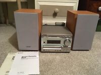 SONY DHC MD333 MINIDISC CD PLAYER WITH TUNER SONY & TC TX333 CASSETTE PLAYER