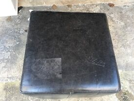 3 leather styled cubed chairs
