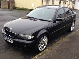 Black BMW E46 saloon 316 SE 1.8