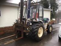 Manitou 2 and half tone four wheel drive forklift truck year 1998 all glass Incab good tyres