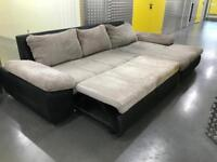 DFS Grey L shape sofa bed, Free delivery
