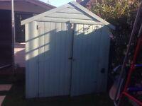 Wooden shed / bike shed