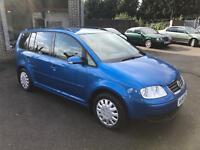 Volkswagen Touran 1.9 TDI SE 7 SEATER (blue) 2004