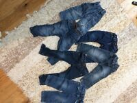 Boys toddlers jeans 2-3 years 6 pairs