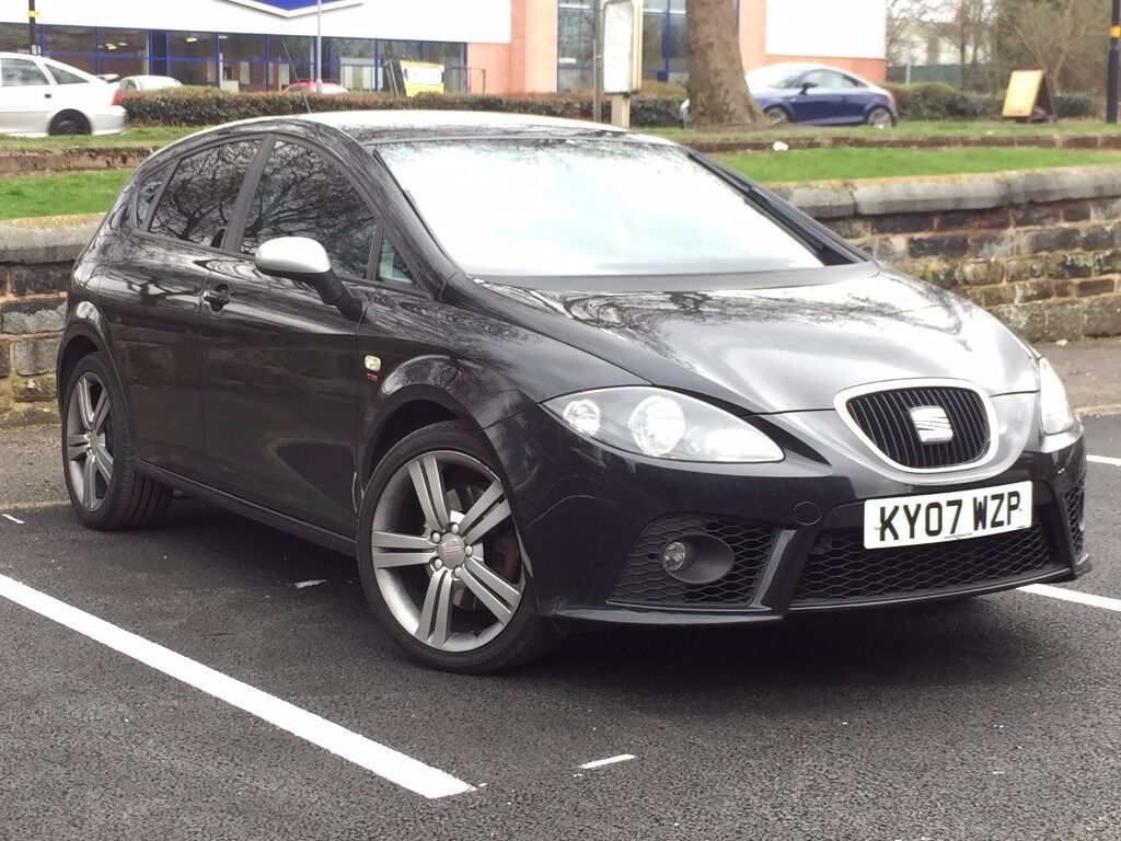 2007 seat leon 2 0 tdi fr black touch screen rear cam fsh inc cambelt px welcome. Black Bedroom Furniture Sets. Home Design Ideas