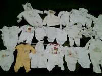 Unisex boy or girl baby clothes bundle tiny newborn 0-3&3-6mths junior j next mothercare etc