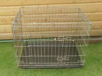 DOG CAGE MEDIUM WITH TRAY £20