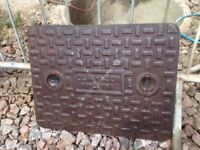Cast Iron Manhole Cover with Frame (Lid Size 510 x 655)