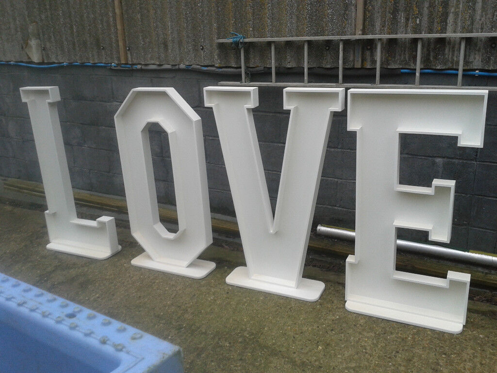 4ft Wedding Love Letters Unpainted For Flowers Or Lights For Sale