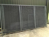 Galvanised dog pen