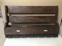 Handmade Wooden Wine Rack and Glass Holder