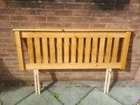 Wooden headboard double never used