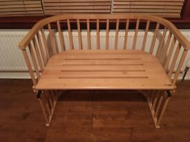 Now reduced! Twin Co sleeping cot Baby Bay maxi in solid beech wood