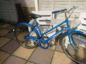 Old bike 3 speed with tyre pump good working order