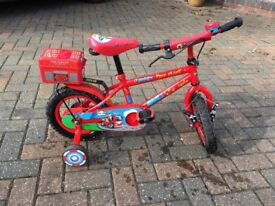 Fireman First Bike with Stabilisers