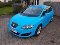 Seat leon 2012 1.6 diesel ecomotive in rare vibrant blue with satnav, DAB radio & £0 road tax