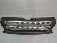 Silver Mesh Grey Surround Discovery 4 style front grille for Land Rover Discovery 3 2005-09