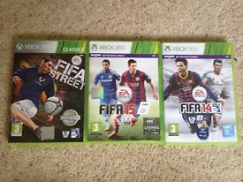 Fifa Street, Fifa 15 and Fifa 14 X box 360 Games