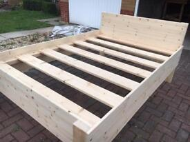 Hand Crafted Solid Wooden Double Bed